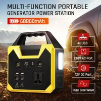 SHOGUN 68800mAh Portable Generator Charging Station Camping Backup Solar Energy