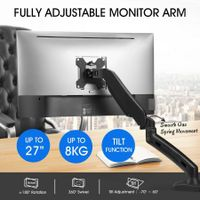 Single LCD LED Monitor Arm Desk Mount Stand Display Gas Spring TV Screen Holder Bracket