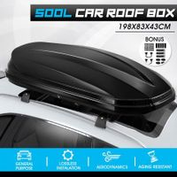500L Universal Car Roof Box Dual Open Vehicle Rack Rooftop Luggage Pod Basket Cargo Storage Carrier