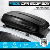 450L Universal Car Roof Box Dual Open Vehicle Rack Rooftop Luggage Pod Basket Cargo Storage Carrier