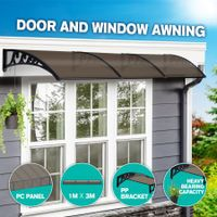 New 3M DIY Window Door Awning House Canopy Patio UV Rain Cover Sun Shade