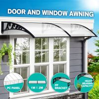 New 2M DIY Window Door Awning House Canopy Patio UV Rain Cover Sun Shade Outdoor