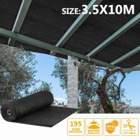 OGL Black 95% UV Block Sun Shade Cloth Sail Roll 3.5x10m Mesh Shadecloth Outdoor 195GSM
