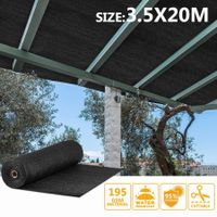 OGL Black 95% UV Block Sun Shade Cloth Sail Roll 3.5x20m Mesh Shadecloth Outdoor 195GSM