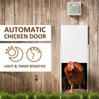 New Automatic Chicken Coop Door Auto Door Opener Cage Closer Timer/ Light Sensor