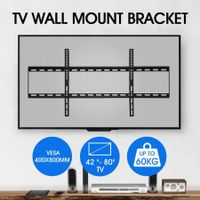 TV Wall Mount Bracket Slim Hanger Flat Screen LED LCD Plasma VESA 42-80 Inch