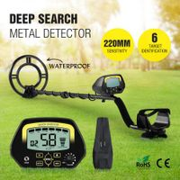 New Deep Sensitive Metal Detector Treasure Hunter Searching Gold Digger W/ LCD