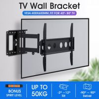 New Full Motion TV Wall Mount Bracket Tilt Swivel LED LCD Plasma VESA 40-80 Inch