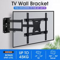 New Full Motion TV Wall Mount Bracket Tilt Swivel LED LCD Plasma VESA 32-65 Inch