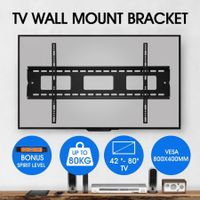 TV Wall Mount Bracket Slim Hanger 42-80 Inch Flat Screen LED LCD Plasma VESA