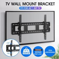 TV Wall Mount Bracket Slim Hanger 42-80 Inch Tilting Flat LED LCD Plasma VESA