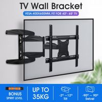 New Full Motion TV Wall Mount Bracket Tilt Swivel LED LCD Plasma VESA 40-65 Inch