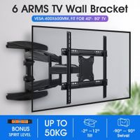New Full Motion TV Wall Mount Bracket Tilt Swivel 40-80 Inch LED LCD Plasma VESA