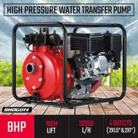 New 8HP OHV High Pressure Water Transfer Pump Fire Fighting Irrigation 32000L/H