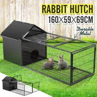 160CM Pet Cage Rabbit Hutch Bunny Cat Hamster Guinea Pig Ferret Chinchilla House