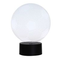 3D Colorful Football Model Touch Switch LED Table Lamp
