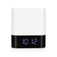 MUSKY DY28 Alarm Clock Wireless Bluetooth Speaker LED Colorful Night Lamp