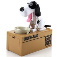Creative Hungry Dog Model Piggy Bank Saving Pot