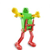Colorful Clockwork Spring Wind up Dancing Walking Robot Toy