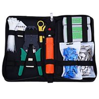 Network Computer Maintenance Tool Kit Cable Tester Crimper 50 Rj45 Cat5 Cat5e Connector Plug 10pcs Rj45 Strain Relief Boot