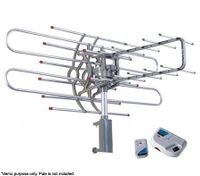 Outdoor Remote Controlled Rotating UHF & VHF TV Antenna Aerial