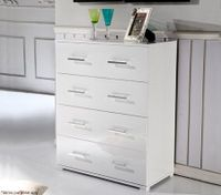 White Tallboy with 4 Draws