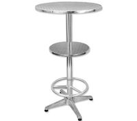 Bar Table with Footrest and Two Levels - 60cm x 110cm