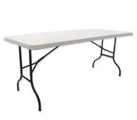 Large Folding Portable Outdoors Picnic BBQ Table - White