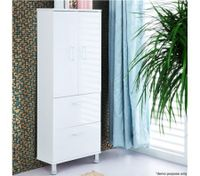 2 Door 2 Drawer Wall Mounted Bathroom Cabinet