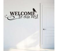 WELCOME TO OUR NEST Pattern Wall Stickers DIY Removable Art Wall Sticker Decor Mural Decal