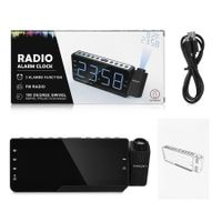 ZEEPIN PRA - 001 Digital Projector Clock Radio Alarm Snooze Timer Temperature