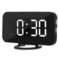 Creative LED Digital Alarm Table Clock Brightness Adjustable for Home Office Hotel