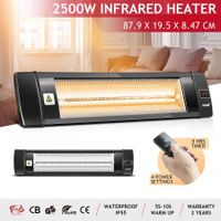 Maxkon 2500W Infrared Radiant Heater Electric Outdoor Patio Strip Heater Wall Ceiling