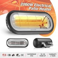 Maxkon Electric Infrared Heater 2000W Outdoor Halogen Heater Ceiling Wall Mount