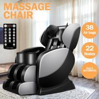 Electric Massage Chair Full Body Zero Gravity Shiatsu Recliner W/ Heat