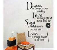 ROMANTIC POETRY LOVE WORDS Wall Stickers