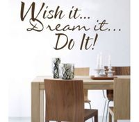 WISH IT DREAM IT DO IT Removable Wall Decor