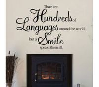 LANGUAGES AND SMILE ART WORD Wall Stickers