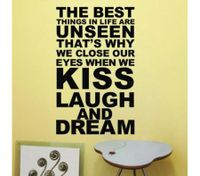 THE BEST THING IS KISS LAUGH AND DREAM Wall Stickers