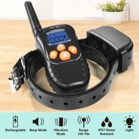 Dog Training Collar Remote Controlled Dog Barking Collar Anti Bark Device