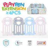 ABST 4 Panel Baby Playpen Extension Interactive Kids Toddler Play Room Safety Gate Kuer