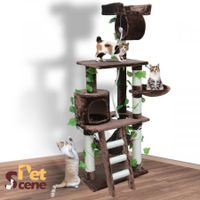 155cm Cat Gym Scratching Post Tree Medium-Mocha