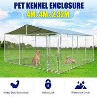 4mx4m Dog Kennel Run Puppy Pet Enclosure Playpen Animal Fencing Fence Cage