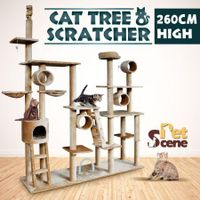 260cm Gym Play Centre Cat Tree -  Multi Level