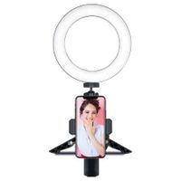 YWXLight Ring Light with Tripod Bracket Mini LED Video Light 3 Lighting Modes