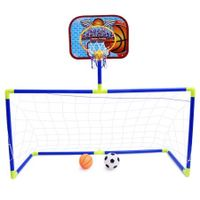 Anjanle Kids Portable 2-in-1 Football Basketball Set Indoor Outdoor Sport Toy Developmental Game