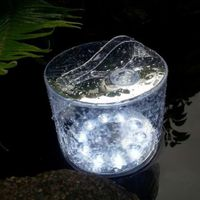 Portable Waterproof LED Solar Light Foldable Inflatable Outdoor Lamp