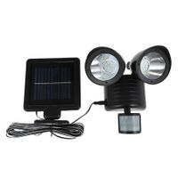 Dual Head Infrared Motion Sensor Solar Light