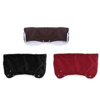 Chunky Fur Fleece Waterproof Stroller Warmer Gloves