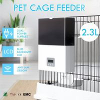 New 2.3L Automatic Pet Feeder Cat Dog Food Dispenser for Cage or Kennel